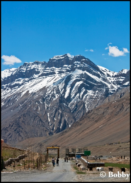 Entrance to Kaza Town.