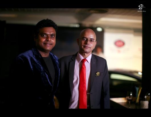 Mr.Rohit Nagpal, head brand & marketing, BBT, with Mr.Harris-Jayraj, music director