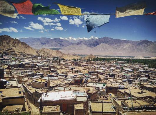 View of Leh City from Leh Palace