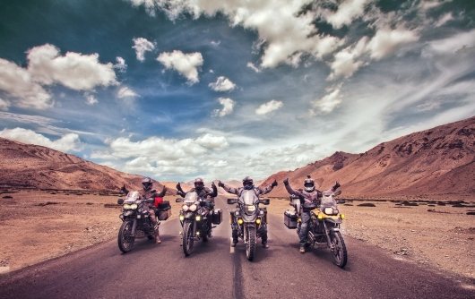 I met a lot of motorcyclists traversing through the region during this trip. And I managed to photograph one such amazing group on their Triumph Tigers and BMW R1200s