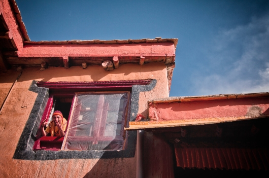 The Happy Monk - at Lamayuru Monastery, Ladakh